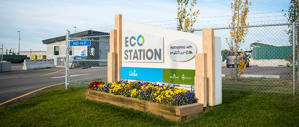 Photo of the front entrance to the eco station