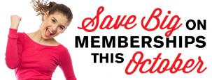 Save big on membership this October