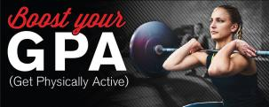 Boost your GPA (get physically active) - Student Membership sale