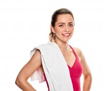 Photo of young woman in fitness clothing