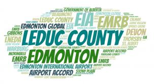 Word cloud showing all of the Leduc Region partners
