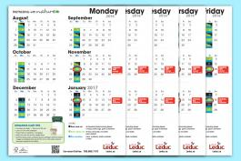 Image of Leduc curbside collection calendars