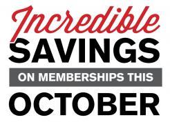 Incredible Savings on Memberships this October at the LRC