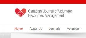 Canadian Journal of Volunteer Resource Management