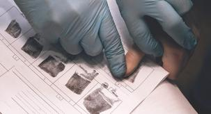 photo of fingerprinting