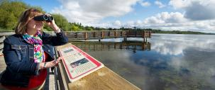 photo of bird-watcher at Telford Lake