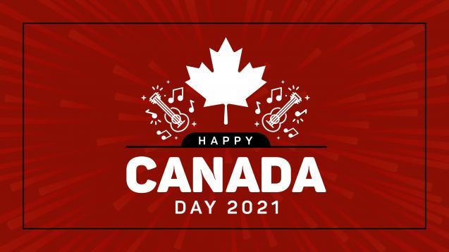 Canada Day 2021 website banner