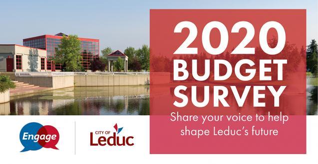 2020 Budget Survey - Share your voice to help shape Leduc's future