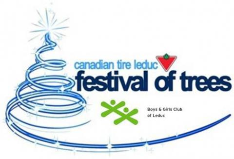 Leduc Festival of Trees logo
