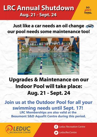 2016 - Annual Pool Shutdown - Leduc Recreation Centre