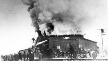 CPR Depot Burns, 1914