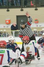 Photo of sledge hockey players at the Leduc Recreation Centre