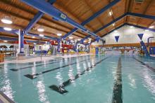Photo of aquatic centre in the Leduc Recreation Centre