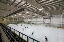 Photo of ice surface in the Leduc Recreation Centre