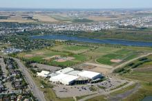 Aerial photo of William F. Lede Park