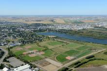 Aerial photo of William F. Lede Park