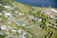 Aerial photo of the Leduc Cultural Village