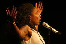 Image of July Black performing at MacLab Centre