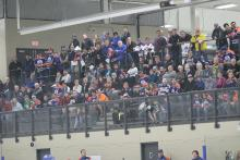 Photos of crowd watching training camp