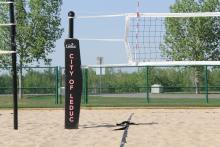 Beach volleyball area located in William F. Lede Park