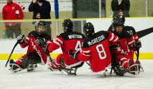 Sledge hockey photo at the LRC