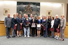 Leduc Achievement Award being presented at City Council meeting