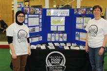 Leduc Food Bank volunteers at the Community Information and Registration Day event.