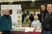 Leduc Genealogy Club volunteers at the Community Information and Registration Day event.