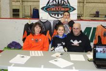 Leduc Lacrosse volunteers at the Community Information and Registration Day event.