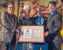 Photo of Leduc Culture and Heritage award presentation