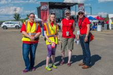 Leduc Volunteers at Canada Day celebrations