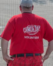 Leduc Volunteer at Canada Day celebrations