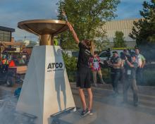 2016 - Alberta Summer Games - Torch lighting