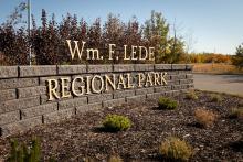 Photo of Lede Park entrance sign