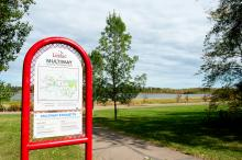 Image of a sign on the multiway trail system