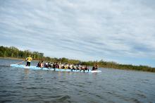 Dragon Boat race on Telford Lake