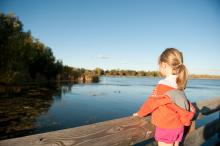 Young resident enjoying the scenery at Telford Lake